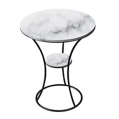 Zhirong 2 Tiers Marble Side Table Nordic Modern Round Coffee Table Corner Table Accent Table 19 Round Coffee Table Modern Marble Side Tables Round Coffee Table