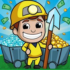 Idle Miner Tycoon is a thrilling mobile simulation game that will take you on an exciting journey to become an industrial tycoon. Play Game Online, Online Games, Minions, Create A Poll, Pikachu, Whatsapp Videos, Singles Events, Games Today, Simulation Games