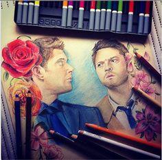 Destiel fan art - this is amazing