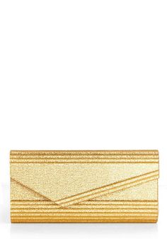 Gold Habits Clutch, #ModCloth