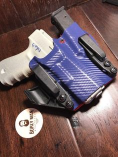 Color : Black Carbon Fiber and Orange Kydex. Holster Type : Glock Burly Man Tactical Proudly Presents Rivet Color : Orange. Glock 19 Gen 4, Custom Holsters, Iwb Holster, Kydex, Sidecar, Tactical Gear, Carbon Fiber, Hand Guns, Magazine