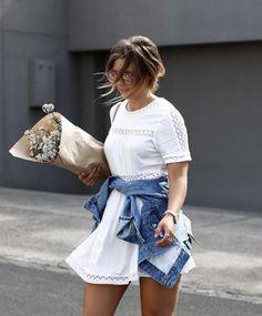 See Want Shop blogger Lisa Hamilton | White dress |