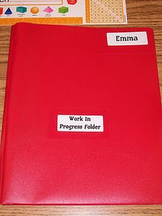 """Each student has a """"Work in Progress"""" Folder in their desk.  They use this folder to put any unfinished work in.  Anytime throughout the day that they have time, they are to get this folder out and finish any work in it.  This really helps the students keep from shoving papers in their desk."""