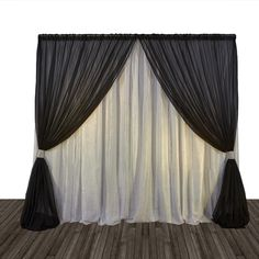 Economy 1 Panel 2 Tone Curtain Backdrop 8ft Tall or 8ft-10ft Tall
