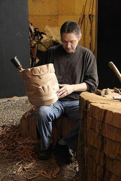 Haida Mask Carving 27