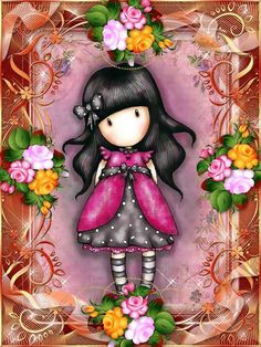 gorjuss Cute Wallpaper Backgrounds, Colorful Wallpaper, Cute Wallpapers, Paper Dolls, Art Dolls, Scrapbook Bebe, Doll Drawing, Santoro London, Inspirational Wallpapers