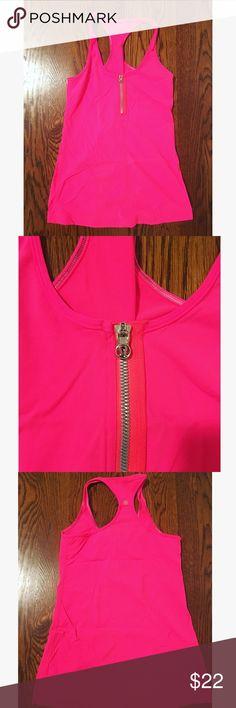 Lululemon athletica Hot Pink Tank Zipper in front. lululemon athletica Tops Tank Tops