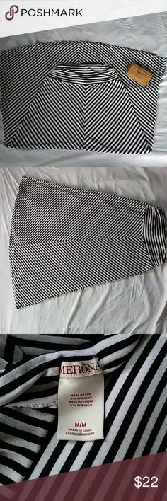 """MERONA BLACK AND WHITE STRIPED LONG MAXI SKIRT New w/o Tags!!!  Stretchy and Comfy Classic Black & White Long Skirt!!!  Has alot of movement in it So you can do a lil swirl!!!  Pair w/ a cute camisole & jean jacket w/ flats!!!   Size: Medium Length: 38""""  Any Questions About This Cute Piece??? Feel Welcome To Let Me Know!!!  Thank You For Shopping At My Store & Stay Beautiful!!!   No Trades!!! Open 2 Offers!!! Merona Skirts Maxi"""