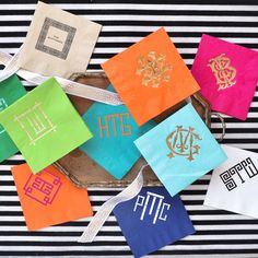 Personalized Cocktail Napkins by Emily McCarthy (Monogram, Party, Entertaining)