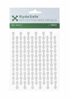 Amazon.com: RydeSafe Reflective Chain Wrap Bike Decals Kit, Black: Sports & Outdoors. Can't wait to put these on.