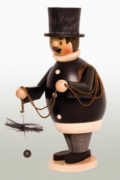 Happy Chimney Sweep German Christmas Incense Smoker Made in Germany New Burner for sale online German Christmas Decorations, Christmas Lights, Christmas Holidays, Christmas Ornaments, German Nutcrackers, Christmas In Germany, Wooden Advent Calendar, Chimney Sweep, Incense Cones