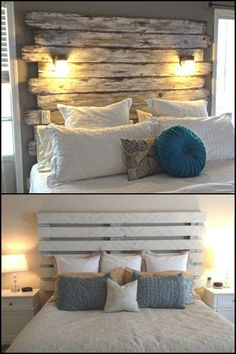 This Pallet Headboard is Made by an Amateur DIYer Who is Just Beginning to Learn Wood Work