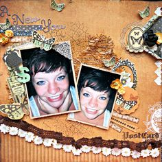 Sharing a layout I made for The Hens Den using Kaisercrafts 75 Cents collection