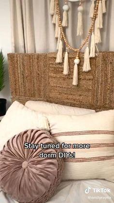 Diy Crafts For Home Decor, Upcycled Home Decor, Diy Room Decor, Boho Bedroom Diy, Boho Room, Bohemian Headboard, Boho Diy, Bohemian Decor, Deco Boheme