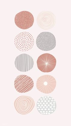 Image about wallpaper in Rose gold ✨ by Patty Circle Pattern, Pattern Art, Flower Pattern Design, Cute Wallpapers, Wallpaper Backgrounds, Instagram Design, Doodle Background, Minimal Background, Pattern Background