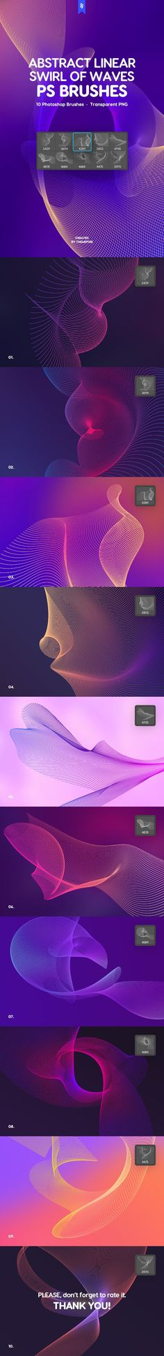 Buy Linear Swirl of Waves Photoshop Brushes by themefire on GraphicRiver. 10 Abstract Wavy Vortex Brushes for Adobe Photoshop The archive consists of 10 high resolution Adobe Photoshop brushe. Advertisement Template, Wave Brush, Digital Wave, Face Profile, Web Design, Graphic Design, Photoshop Brushes, Optical Illusions, Abstract Backgrounds