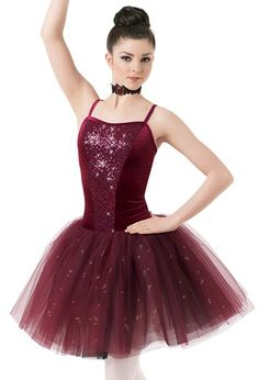 Weissman™ | Velvet & Sequin Glitter Tulle Dress