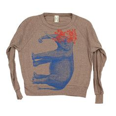 Elephant Pullover Women's