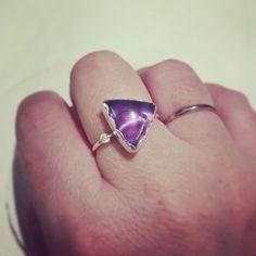 #new #ring. #anillo #amatista y #plata. Pronto en #etsy. #piezaunica #uniquepiece #mardargent #africandreamland.
