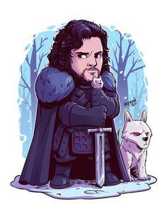 Last nights episode…DROOL. Game of Thrones is everything I've ever wanted. #GameofThrones #jonsnow #got7 #chibi #fanart #dereklaufman