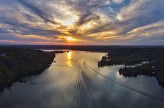 Sunset on Lewis Smith Lake