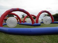 Inflatable Human Hamster Race Track Mechanical Bull, Bull Riding, Water Games, Sports Games, Water Sports, Tent, Racing, Outdoor Decor, Ideas