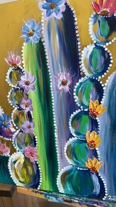 Cactus Painting, Canvas Wall Art, Mexican Art Painting, Flower Painting, Small Canvas Art, Modern Art Paintings Abstract, Abstract Painting, Flower Painting Canvas, Black Canvas Paintings