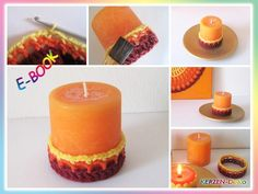 Häkelanleitung: Kerzen-Deko selber häkeln Pillar Candles, Candle Decorations, Knitting And Crocheting, Tutorials, Simple, Gifts, Taper Candles