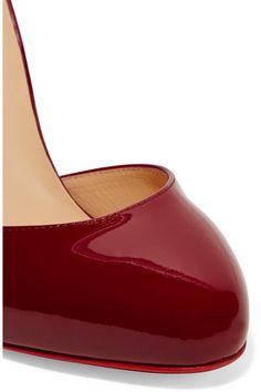 Christian Louboutin - Tango Alto 100 Patent-leather Pumps - Claret - IT37.5