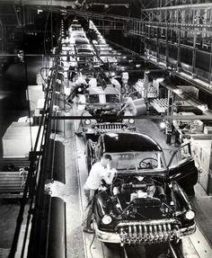 Vintage assembly line