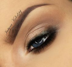 Lovely everyday look by Justyna Kolodziej using Makeup Geek's Corrupt, Barcelona Beach and In The Spotlight eyeshadows.