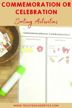 Do your students clearly understand the difference between a Commemoration and a Celebration? Use this sorting pack to make sure students know the difference. This pack will make your social studies lesson so much quicker and events listed are from well known Australian commemorations and celebrations and one international celebration for comparison. Primary School Curriculum, Primary School Teacher, Teacher Pay Teachers, Teaching History, Teaching Resources, National Sorry Day, Naidoc Week, Anzac Day, Sorting Activities