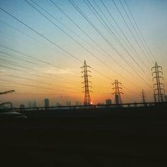 Ride on the #freeway  # !! #sunset #citylife #Mumbai #India #Instagram