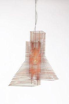 Grown Italian Wire Thread Hanging Lamp