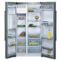 Buy Neff K5920L0GB American Style Fridge Freezer, Stainless Steel Online at johnlewis.com