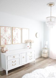 Blush And Gold Glam Office Reveal – Summer Adams – Chic Home Office Design French Home Decor, Elegant Home Decor, Gothic Home Decor, Retro Home Decor, Transitional Home Decor, Home And Deco, My New Room, Home Decor Bedroom, Bedroom Ideas