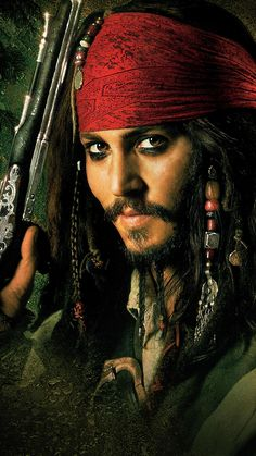 Johnny Depp as Captain Jack Sparrow in Pirates of the Caribbean: The Curse of the Black Pearl Jack Sparrow Drawing, Jack Sparrow Tattoos, Jack Sparrow Quotes, Johnny Depp Wallpaper, Captain Jack Sparrow, Jony Depp, Jack Sparrow Wallpaper, Johnny Depp Pictures, Pirate Art