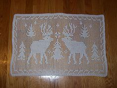 Ravelry: Reindeer Filet Crochet - Archived pattern by Christine Anderson