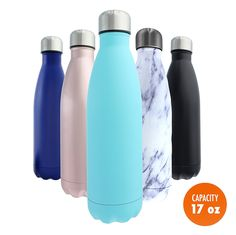Stainless Steel Water Bottle   Bonus Cleaning Brush! Best for Cold or Hot Drinks. Hydro Vacuum seal with metal insulated double walled flask, BPA Free Warm for 12 Hours Cold for 24 -- Be sure to check out this awesome product.