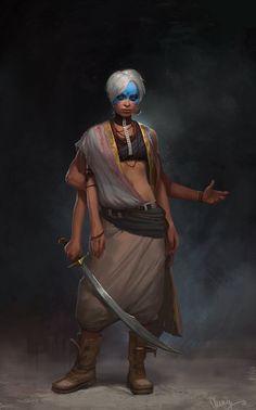 Stray Goddess, Monika Palosz on ArtStation at https://www.artstation.com/artwork/stray-goddess