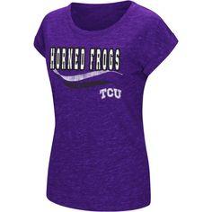 Colosseum Athletics Women's TCU Horned Frogs Purple Speckled Yarn T-Shirt, Size: Medium