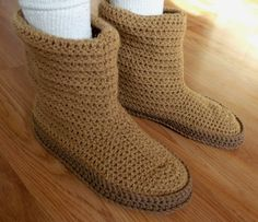 To show you some really amazing slipper style we have these DIY 30 easy fast crochet slippers patterns that you can try at home and thus save a lot of your mon Crochet Slipper Boots, Crochet Slipper Pattern, Crochet Hood, Knitted Slippers, Slipper Socks, Crochet Slippers, Crochet Patterns, Sheepskin Slippers, Crochet Scarves