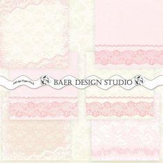 Bonus Collection:PINK Digital STATIONERY, Printable Pink Burlap Invitation, Pink Burlap and Lace Digital Paper,  Printable Pink Bunting
