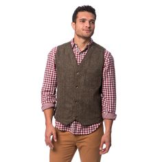 This stylish vest combines Harris Tweed and super-soft cotton canvas making it ideal for any time of year.