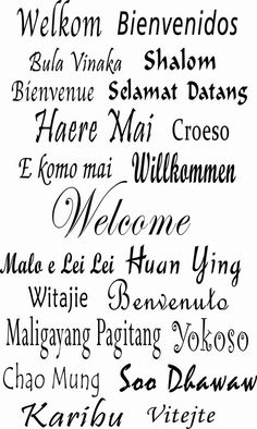 Welcome decals in different languages Vinyl Wall by Popitay