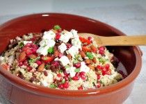 Quinoa salade met feta en granaatappel