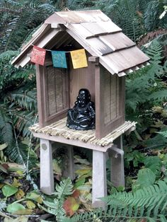 Finished and in place...Buddhist garden shrine by jancient, via Flickr