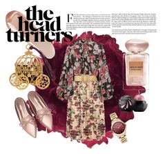 """""""the head turners"""" by marie-berge ❤ liked on Polyvore featuring Accessorize, Mother of Pearl, Jill Stuart, Yves Saint Laurent, NARS Cosmetics, Giorgio Armani and Karl Lagerfeld"""