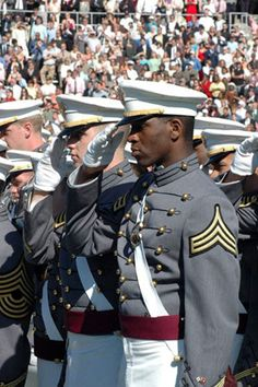 Saluting the long gray line - West Point  Was at the game this weekend.