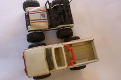 Vintage Tonka Truck and Dune Buggy 80's Car Quest Auto Parts Advertising Toy Gifts Toy Pick-Up Truck Made in USA Set of 2 Trucks by ZoomVintage on Etsy